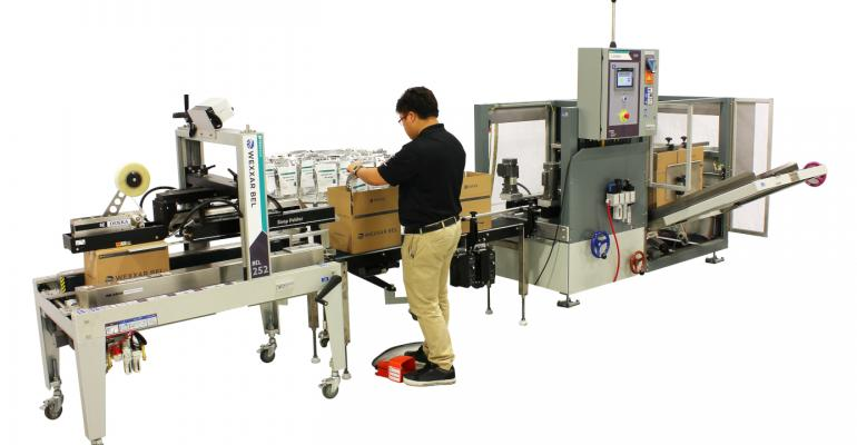 All-in-one case packaging system touts flexibility, top productivity