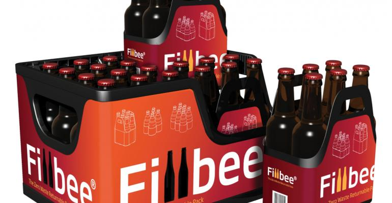 Returnable beverage multipack fits inside reusable crates
