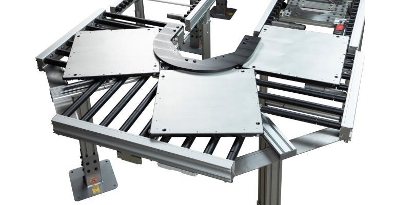 Dorner pallet conveyor accumulation around corner online.jpg