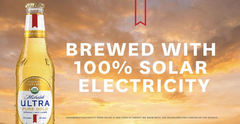 Michelob Pure Gold solar power