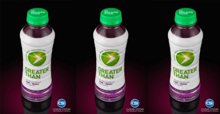 Sports drink incorporates lightweight closures