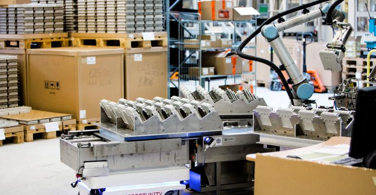 Mobile robots are adaptable packaging line workers