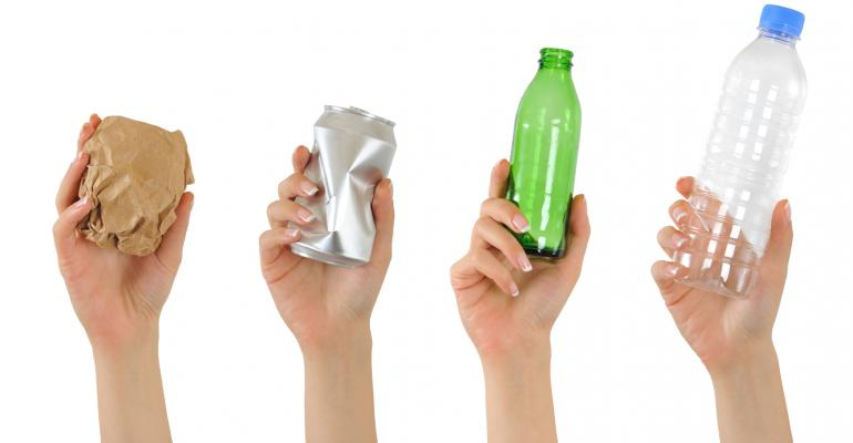 How can identifying materials reduce packaging waste?