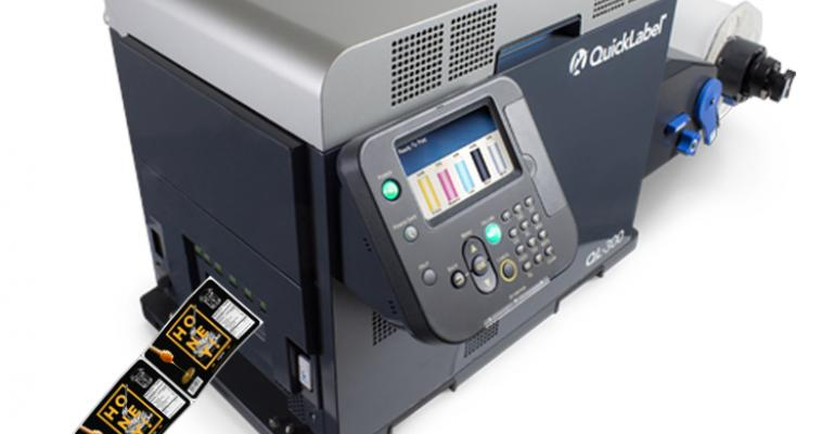 Tabletop label printer uses white toner to boost quality, versatility