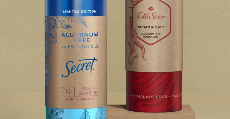 P&G Launches All-Paper Deodorant Packaging