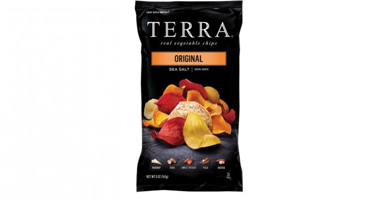 Chip packaging highlights vegetable experience