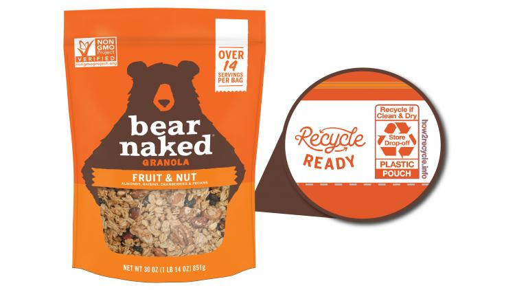 Bear Naked recyclable pouch