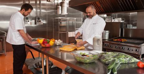 Restaurants foodservice packaging kitchen cooks staff preparation