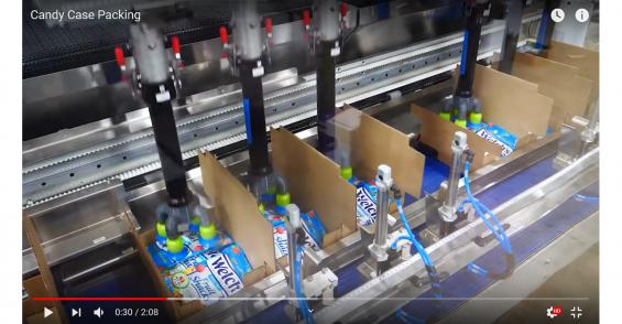 High-Speed Robots Pack Welch's Candies in Retail-Ready Case